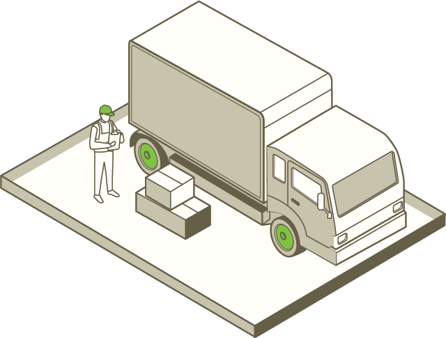 A man is loading a truck full of packages bought through eCommerce.