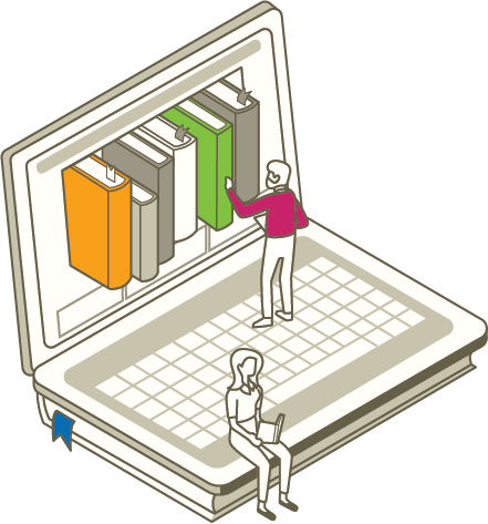 Computer showing eCommerce educational resources.