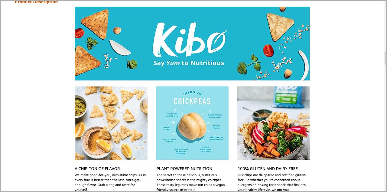 Kibo Amazon A Plus Content