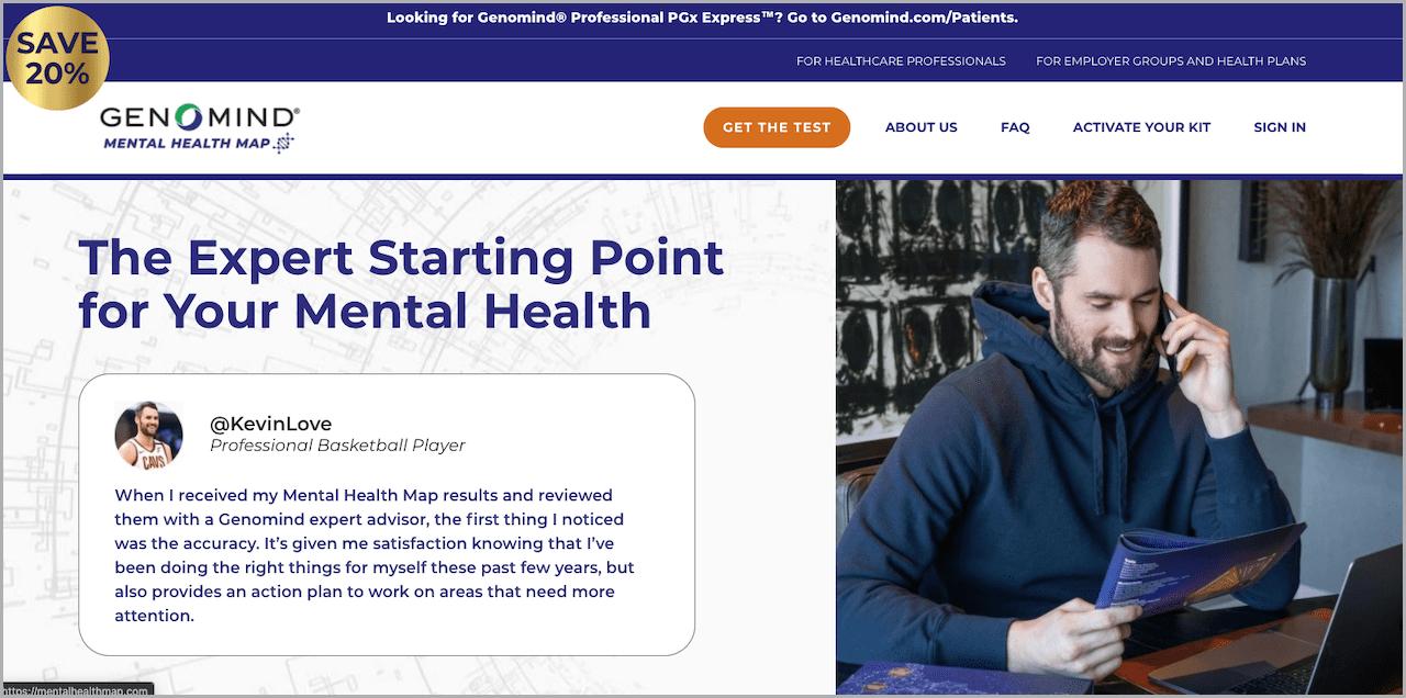 Genomind Mental Health Map Shopify Website